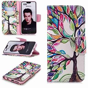 Недорогие Чехлы и кейсы для Huawei Honor-Кейс для Назначение Huawei Honor 8 / Honor 7X / Honor 7C(Enjoy 8) Кошелек / Бумажник для карт / со стендом Чехол дерево Твердый Кожа PU