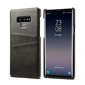 hesapli Galaxy Note 8 İçin Kılıflar / Kapaklar-Pouzdro Uyumluluk Samsung Galaxy Note 9 / Note 8 Kart Tutucu Arka Kapak Solid Sert PU Deri