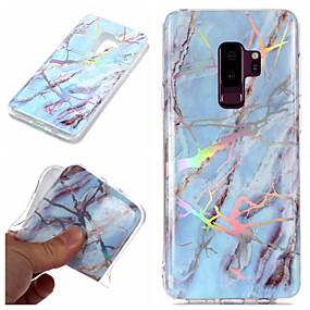 voordelige Galaxy S7 Hoesjes / covers-hoesje Voor Samsung Galaxy S9 / S9 Plus / S8 Plus Beplating / IMD / Patroon Achterkant Marmer Zacht TPU