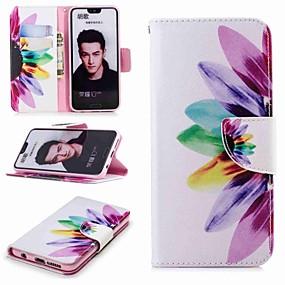 voordelige Huawei Honor hoesjes / covers-hoesje Voor Huawei Honor 8 / Honor 7X / Honor 7C(Enjoy 8) Portemonnee / Kaarthouder / met standaard Volledig hoesje Bloem Hard PU-nahka