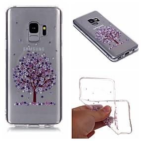 voordelige Galaxy S7 Hoesjes / covers-hoesje Voor Samsung Galaxy S9 / S9 Plus / S8 Plus IMD / Transparant / Patroon Achterkant Boom / Bloem Zacht TPU