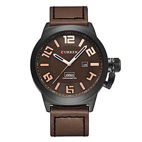 Недорогие Фирменные часы-CURREN Муж. Нарядные часы Японский Кварцевый Натуральная кожа Черный / Синий / Коричневый 30 m Защита от влаги Календарь Секундомер Аналоговый Классика На каждый день Мода -  / Два года / Два года
