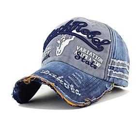 זול $3.99-סתיו חורף חום שחור אודם כובע בייסבול דפוס טלאים כותנה פוליאסטר וינטאג' עבודה בגדי ריקוד גברים
