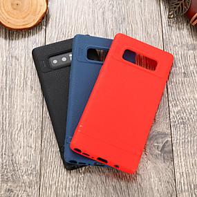 Недорогие Чехлы и кейсы для Galaxy Note 8-Кейс для Назначение SSamsung Galaxy Note 8 IMD Кейс на заднюю панель Однотонный Мягкий ТПУ