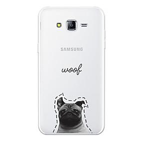 voordelige Galaxy J5(2017) Hoesjes / covers-hoesje Voor Samsung Galaxy J7 (2017) / J7 (2016) / J7 Patroon Achterkant Hond / Woord / tekst / Cartoon Zacht TPU