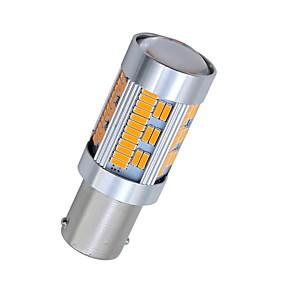 رخيصةأون مصابيح إشارات السيارات-SO.K 2pcs 1156 سيارة لمبات الضوء 10 W مصلحة الارصاد الجوية 4014 1800 lm 105 LED ضوء إشارة اللف For عالمي كل السنوات