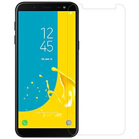 Недорогие Защитные пленки для Samsung-протектор экрана nillkin для галактики samsung j6 закаленное стекло / домашнее животное 1 шт спереди& защитная пленка для камеры высокой четкости (hd) / 9h твердость / взрывозащита