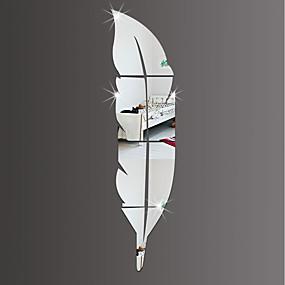 رخيصةأون ملصقات ديكور-لواصق حائط مزخرفة - لواصق / ملصقات الحائط على المرآة أشكال / 3D غرفة الجلوس / داخلي