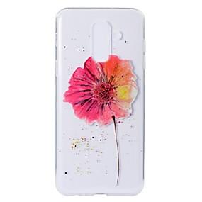 Недорогие Чехлы и кейсы для Galaxy A5(2016)-Кейс для Назначение SSamsung Galaxy A5(2018) / A6 (2018) / A6+ (2018) С узором Кейс на заднюю панель Цветы Мягкий ТПУ