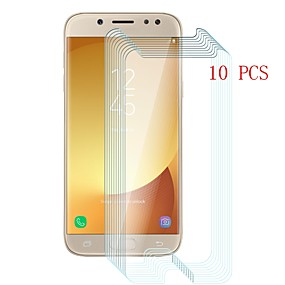 Недорогие Защитные пленки для Samsung-Samsung GalaxyScreen ProtectorJ5 (2017) Уровень защиты 9H Защитная пленка для экрана 10 ед. Закаленное стекло