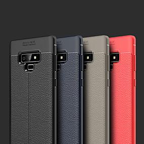 Недорогие Чехлы и кейсы для Galaxy Note 8-Кейс для Назначение SSamsung Galaxy Note 9 / Note 8 Рельефный Кейс на заднюю панель Однотонный Мягкий Кожа PU