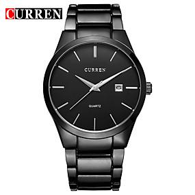 Недорогие Фирменные часы-CURREN Муж. Нарядные часы Часы-браслет Кварцевый Черный / Белый Защита от влаги Календарь Новый дизайн Аналоговый Классика На каждый день Мода - Черный / Белый Черный Серебро / черный