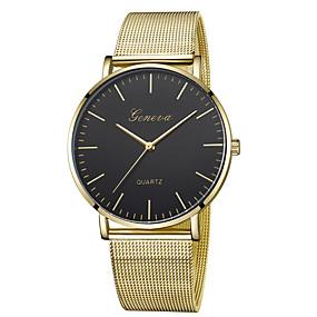ieftine Cuarț ceasuri-Geneva Pentru femei Ceas de Mână ceas de aur Quartz Casual Ceas Casual Analog Negru și Auriu Roz auriu / Alb Negru / Roz auriu / Un an / Un an