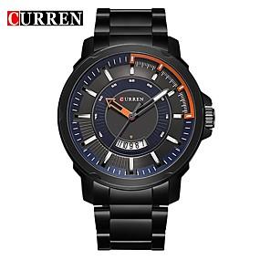Недорогие Фирменные часы-CURREN Муж. Нарядные часы Часы-браслет Кварцевый Серебристый металл Защита от влаги Календарь Новый дизайн Аналоговый Классика На каждый день Мода - Черный / Белый Черный / Синий Черный