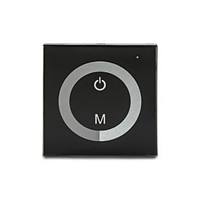 ieftine Întrerupătoare & Prize-controlor 8a sticlă de 1-canal panou tactil dimmer pentru o singură culoare a condus lampă bandă (DC12-24V)