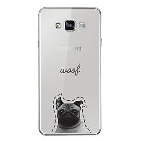 voordelige Galaxy A8 Hoesjes / covers-hoesje Voor Samsung Galaxy A3 (2017) / A5 (2017) / A7 (2017) Patroon Achterkant Hond / Woord / tekst / Cartoon Zacht TPU