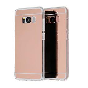 voordelige Galaxy S7 Edge Hoesjes / covers-hoesje Voor Samsung Galaxy S9 / S9 Plus / S8 Plus Beplating / Spiegel / Ultradun Achterkant Effen Hard Acryl