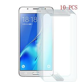 Недорогие Защитные пленки для Samsung-Samsung GalaxyScreen ProtectorJ5 (2016) Уровень защиты 9H Защитная пленка для экрана 10 ед. Закаленное стекло