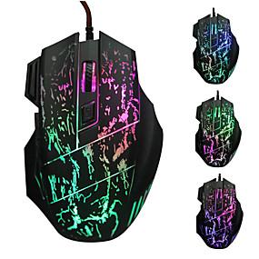 billige PC- og tablettilbehør-LITBest LOL USB-kabel Gaming Mus LED Lampe 4 justerbare DPI niveauer nøgler 6 programmerbare nøgler
