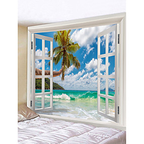 cheap Home & Garden-Novelty / Holiday Wall Decor Polyester Classic Wall Art, Wall Tapestries Decoration