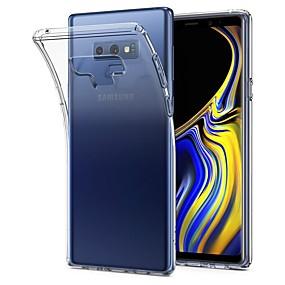 Недорогие Чехлы и кейсы для Galaxy Note 8-Кейс для Назначение SSamsung Galaxy Note 9 / Note 8 / Note 5 Ультратонкий / Прозрачный Кейс на заднюю панель Однотонный Мягкий ТПУ