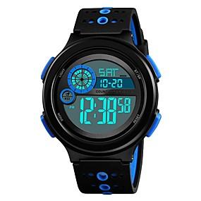 Недорогие Фирменные часы-SKMEI Муж. Для пары Наручные часы электронные часы Цифровой силиконовый Черный 50 m Защита от влаги Календарь Секундомер Цифровой На каждый день Мода - Черный Красный Синий / Хронометр