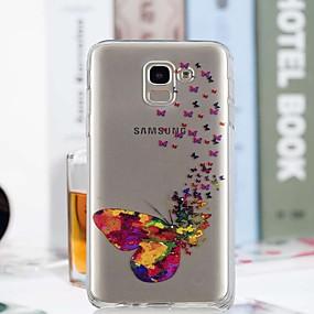 voordelige Galaxy J5(2017) Hoesjes / covers-hoesje Voor Samsung Galaxy J7 (2017) / J6 / J5 (2017) Transparant / Patroon Achterkant Vlinder Zacht TPU