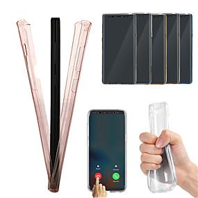 Недорогие Чехлы и кейсы для Galaxy Note 8-Кейс для Назначение SSamsung Galaxy Note 9 / Note 8 Полупрозрачный Чехол Однотонный Мягкий ТПУ
