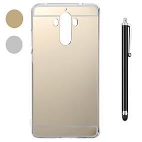 Недорогие Чехлы и кейсы для Huawei Mate-Кейс для Назначение Huawei Mate 10 / Mate 10 pro / Huawei Mate 7 Защита от удара / Покрытие / Зеркальная поверхность Кейс на заднюю панель Однотонный Мягкий пластик / Металл / Mate 9 Pro