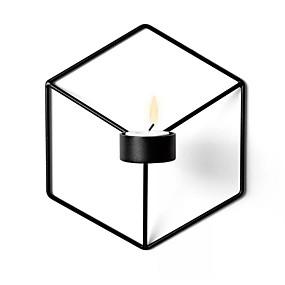 رخيصةأون Home Fragrances-أسلوب بسيط الحديد Candle Holders شمعدان 1PC, شمعة / حامل شمعة