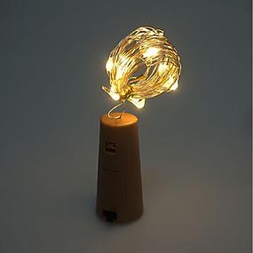 رخيصةأون مصابيح ليد مبتكرة-brelong 1 pc 8led النبيذ زجاجة النحاس مصباح الأسلاك