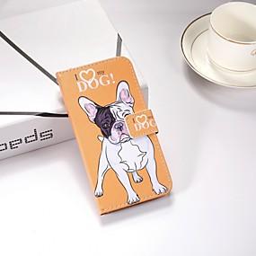voordelige Galaxy J5(2017) Hoesjes / covers-hoesje Voor Samsung Galaxy J6 / J5 (2017) / J4 Portemonnee / met standaard / Flip Volledig hoesje Hond Hard TPU