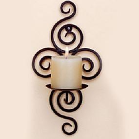 رخيصةأون Home Fragrances-الطراز الأوروبي الحديد Candle Holders الشمعدانات 1PC, شمعة / حامل شمعة