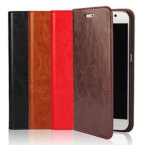 voordelige Galaxy S7 Edge Hoesjes / covers-hoesje Voor Samsung Galaxy S9 / S8 / S7 edge Portemonnee / Kaarthouder / met standaard Volledig hoesje Effen Hard aitoa nahkaa