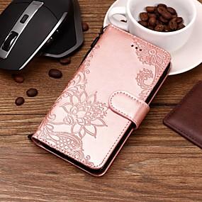 voordelige Huawei Honor hoesjes / covers-hoesje Voor Huawei Honor 9 / Huawei Honor 9 Lite / Honor 8 Portemonnee / Kaarthouder / met standaard Volledig hoesje Bloem Hard PU-nahka