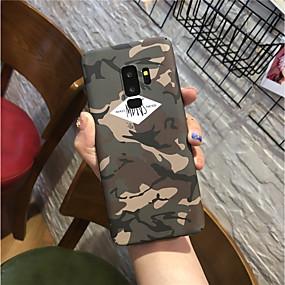 voordelige Galaxy S7 Hoesjes / covers-hoesje Voor Samsung Galaxy S9 / S9 Plus / S8 Plus Mat Achterkant Camouflage Kleur Hard PC