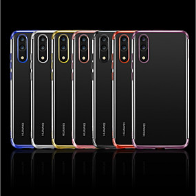 Недорогие Чехлы и кейсы для Huawei Mate-Кейс для Назначение Huawei Mate 10 / Mate 10 pro / Mate 10 lite Покрытие / Прозрачный Кейс на заднюю панель Однотонный Мягкий ТПУ