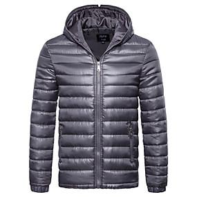 رخيصةأون الأعلى مبيعا-رجالي V رقبة الخريف جواكيت جلد عادية لون سادة مناسب للبس اليومي أساسي كم طويل أسود أزرق أرجواني M L XL / الشتاء / بدون كم