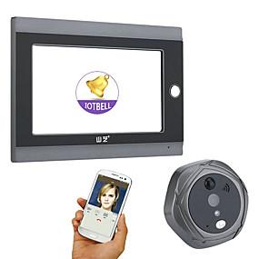 povoljno Video portafoni-mountainone 720p wifi bežični digitalni dlanovnik prikazi za vrata 7inch prednja vrata za snimanje videa vrata kamera s mikrofonom s mikrofonom ili fotografiranje ili snimanje videozapisa