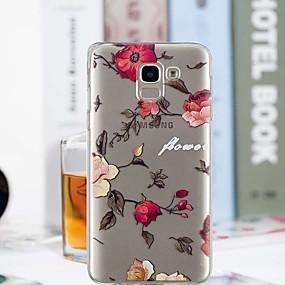 voordelige Galaxy J3 Hoesjes / covers-hoesje Voor Samsung Galaxy J7 (2017) / J6 / J5 (2017) Transparant / Patroon Achterkant Bloem Zacht TPU