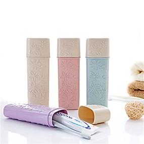 رخيصةأون أدوات الحمام-كوب فرشاة أسنان محبوب / حجم السفر العادي بلاستيك 1PC - التنظيف حمام منظمة
