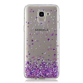 voordelige Galaxy J3 Hoesjes / covers-hoesje Voor Samsung Galaxy J7 (2017) / J6 / J5 (2017) Transparant / Patroon Achterkant Hart Zacht TPU