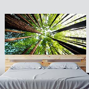 povoljno Ukrasne naljepnice-boja šuma dnevni boravak tv pozadinske zidne naljepnice spavaća soba noćni ukras umjetnički ukras naljepnica tapeta 1 set 2pcs