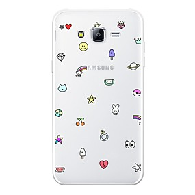 Недорогие Чехлы и кейсы для Galaxy J5(2016)-Кейс для Назначение SSamsung Galaxy J7 (2017) / J7 (2016) / J7 С узором Кейс на заднюю панель Плитка Мягкий ТПУ