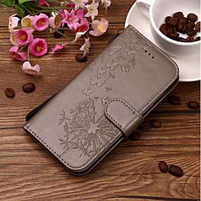 Недорогие Чехлы и кейсы для Huawei Honor-Кейс для Назначение Huawei P smart / Huawei Honor 10 / Honor 9 Кошелек / Бумажник для карт / со стендом Чехол одуванчик Твердый Кожа PU