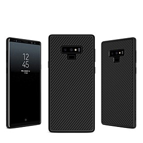 Недорогие Чехлы и кейсы для Galaxy Note 8-Nillkin Кейс для Назначение SSamsung Galaxy Note 9 / Note 8 Рельефный Кейс на заднюю панель Полосы / волосы Твердый Углеродное волокно для Note 9 / Note 8