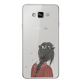 voordelige Galaxy A5(2016) Hoesjes / covers-hoesje Voor Samsung Galaxy A3 (2017) / A5 (2017) / A7 (2017) Patroon Achterkant Sexy dame Zacht TPU