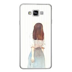 저렴한 Galaxy A3(2016) 케이스 / 커버-케이스 제품 Samsung Galaxy A3 (2017) / A7 (2017) / A7(2016) 패턴 뒷면 커버 섹시 레이디 소프트 TPU
