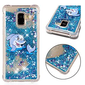 voordelige Galaxy A5(2016) Hoesjes / covers-hoesje Voor Samsung Galaxy A6 (2018) / A6+ (2018) / A3 (2017) Schokbestendig / Stromende vloeistof / Patroon Achterkant dier / Glitterglans Zacht TPU