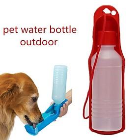 economico Prodotti Per Animali-Prodotti per cani Prodotti per gatti Ciotole & Bottiglie 0.03-0.05 L Plastica Portatile All'aperto Monocolore Giallo Rosso Blu Ciotole e alimentazione
